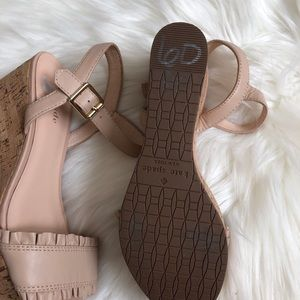kate spade Shoes - Kate spade ankle strap sandal wedges nude Tomas